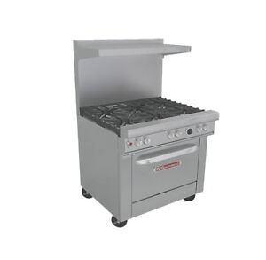 Southbend 4361c Ultimate 36 Range W 6 Burners With S s Cabinet Base