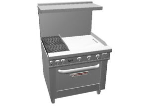 Southbend 4362d 2g Ultimate 36 Gas Range W 24 Griddle Std Oven