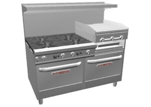 Southbend Ultimate 60 Large Burner Range W Griddle broiler 2 Conv