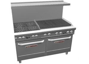 Southbend Ultimate Range W 36 Charbroiler Wavy Grates 2 Conv Oven