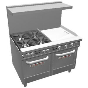 Southbend 48 Ultimate Range Star Burners 24 Thr Griddle 2 Ovens