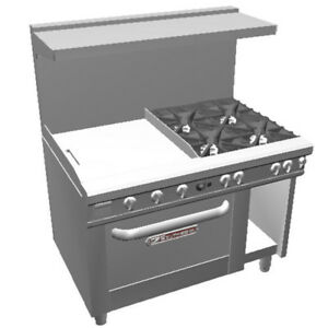 Southbend 4483dc 2tl 48 Ultimate Range W Star Burners 24 Thr Griddle