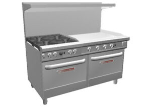 Southbend 4601dd 3g Ultimate 60 Range W 36 Griddle 4 Burners 2 Std Ovens