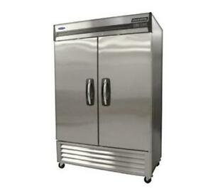 Nor lake Nlr49 s 49 Cu ft Reach in Cooler W 2 Solid Doors Stainless