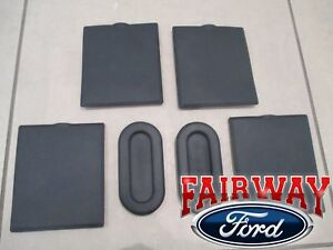 15 Thru 19 F 150 Oem Ford Bed Access Hole Liner Plug Cleat Cover Kit 6 Piece Set
