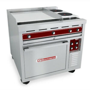 Southbend Se36d hhb 36 Electric Restaurant Range Oven 2 Flat 2 Round Hotplate
