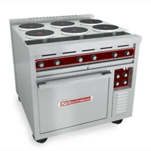 Southbend Se36d bbb 36 Electric Restaurant Range Std Oven 6 Round Hotplates
