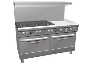 Southbend 4601aa 2g Ultimate 60 Range W 24 Manual Griddle 2 Conv Ovens