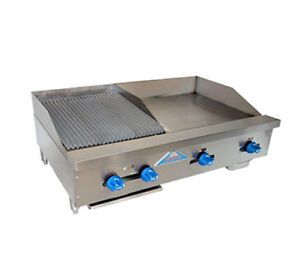 Comstock Castle 42 W Counter Top Combo W 24 Griddle 18 Radiant Broiler
