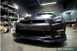 2012 And Up Gtr R35 Carbon Fiber Bse Style Front Lip Spoiler For Nissan Gtr Dba