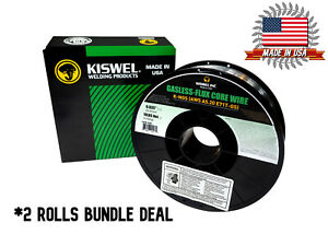 2 Rolls K ngs E71t gs 035 In Dia 10lb Gasless flux Core Wire Welding Wire
