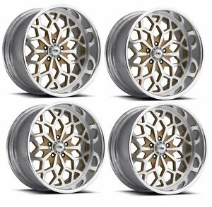 Pro Wheels Snowflake 22 Polished Aluminum Billet Wheels Rims Foose Intro Boyd