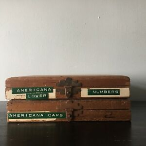 Kingsley Machine Howard Type Set Americana Caps Lower 18pt s And Extras