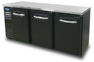 Nor lake Nlbb72n 19 6 Cu Ft Refrigerated Back Bar Cabinet With 3 Solid Doors