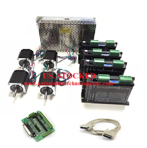 Us Shipping 4 Axis Nema17 Stepper Motor 62oz in 1 68a Driver Kl 4042d Cnc Kit