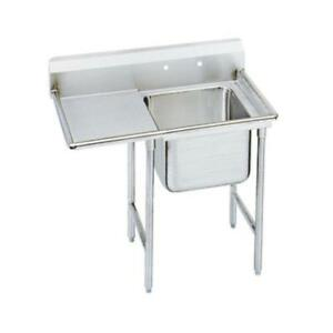 Advance Tabco 1 Compartment Sink 18 Gauge 16 x20 Bowl S s 18 Drainboard
