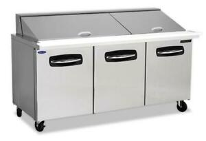 Nor lake 72 3 8 Mega Top Refrigerated Counter Sandwich salad Table
