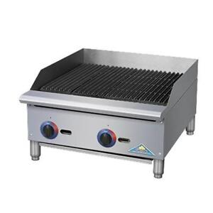 Comstock Castle Br36 Br Series 36 Manual Gas Countertop Charbroiler 105kbtu