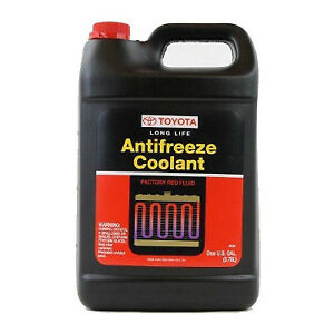 Genuine Toyota Long Life Red Coolant Antifreeze Gallon W 00272 1llac 01