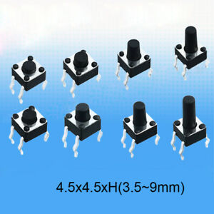 3 5 9mm Heigth Tactile Push Button Miniature mini small Pcb Switch various Sizes