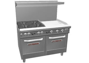 Southbend 48 Ultimate Range W 24 Therm Griddle 2 Space Saver Oven