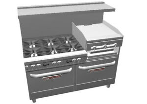 Southbend 4603aa 2rr Ultimate 60 Star Burner Range W Griddle broiler