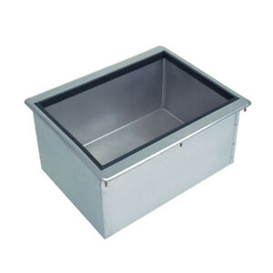 Advance Tabco D 24 ibl x 18 Stainless Steel Drop in Ice Bin 50lb Ice Capacity