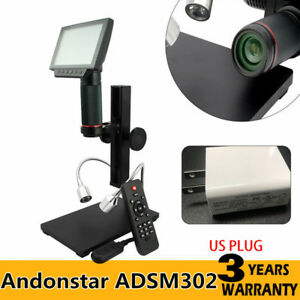 Andonstar Hdmi Digital Microscope Adsm302 5 Screen Pcb Solder Repair Tool Usa