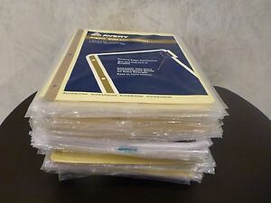 Large Assortment Label Dividers 3 ring Binder Many Kinds Mostly New Some Loose