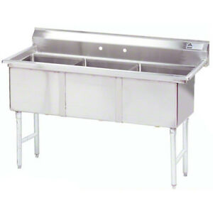 Advance Tabco Fc 3 1620 x 3 Compartment Sink 16 x20 x14 Bowl Stainless Steel