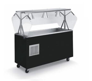 Vollrath R39775 Affordable Portable 46 3 Well Cold Cafeteria Station