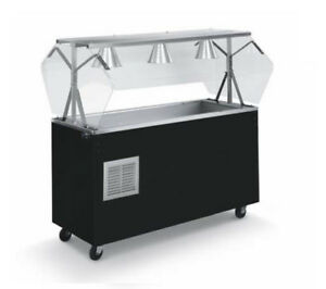 Vollrath R39734 Affordable Portable 46 3 Well Cold Cafeteria Station