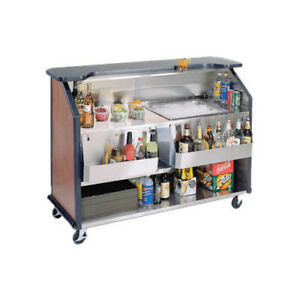 Lakeside 76887 63 7 8 wx27 1 2 dx46 1 2 h Portable Bar W 1 40lb Ice Bins