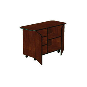 Lakeside 68205 25 1 2 dx57 1 2 wx36 3 4 h Solid Wood Enclosed Service Cart