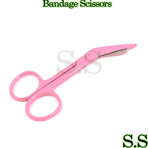 Lister Bandage Scissors 3 5 Pink Color Surgical Instruments Stainless Steel