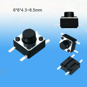 2 0mm Short Leg 6x6x4 3 4 5 5 6 7 8 5mm 4pin Tactile Switch Miniature Small Mini