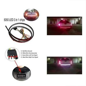 Tailgate Led Strip Light Bar Truck Reverse Brake Turn Waterproof 48 Red white