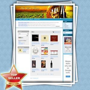 Wine Store Fully Functional Ecommerce Affiliate Website For Sale Free Domain