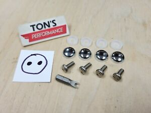 Chrome Caps Bmw Security Anti Theft Auto License Plate Screws Stainless Bolts S