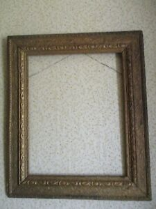 Antique Gold Wood Arts Crafts Picture Painting Frame Mission