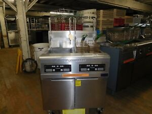 Fryer Two Pot With Built In Filtration Basket Lifts