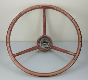1956 1957 Oem Ford Thunderbird Red Steering Wheel Vintage Antique