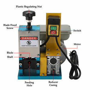 Portable Powered Electric Wire Stripping Machine Metal Tool Scrap Cable Strippe