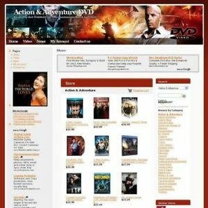 New Action Adventure Dvd Online Business Website For Sale Free Domain Name