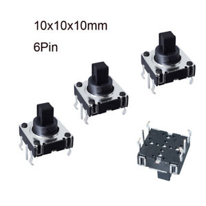 Momentary Tactile Push Button Switch 10x10x10mm 6pin Miniature Mini Micro Small