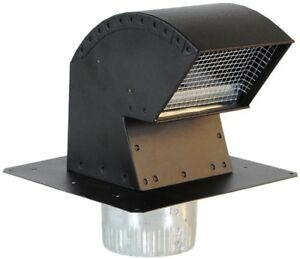 Imperial Aluminum Galvanized Black Exhaust Duct Ducting Roof Fan New Vent Kit