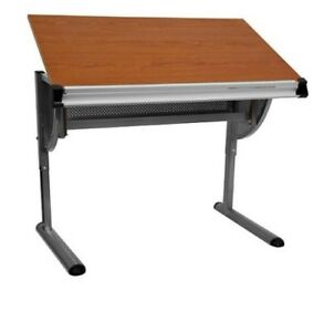 Adjustable Drafting Table Drawing Pewter Frame Furniture Durable Work Project