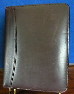 Franklin Quest 11 Brown Nappa Leather Planner Binder Organizer