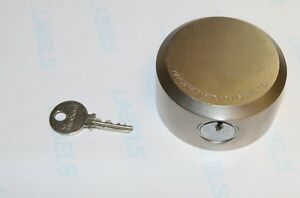 High Security Puck Lock Body W Medeco Plug Cylinder Lock 1 Key Heavy Steel