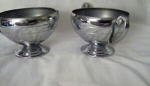 Vintage Classic Silver Plated Sugar Bowl And Creamer Set
